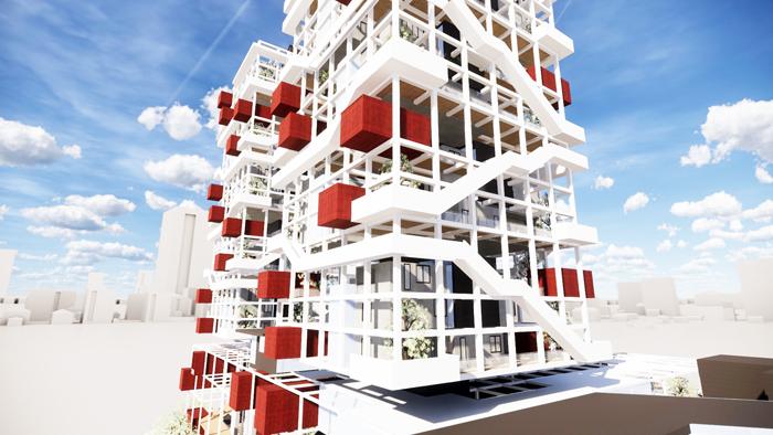 金門大學建築學系辦理線上「第五屆海峽兩岸四校聯合教學暨競賽交流」,兩岸四所大學提出創新的設計方案,相互交流。(金大提供)