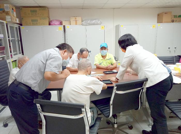 金門榮服處辦理「110年度第3季榮民助聽器巡迴服務」。(金門榮服處提供)
